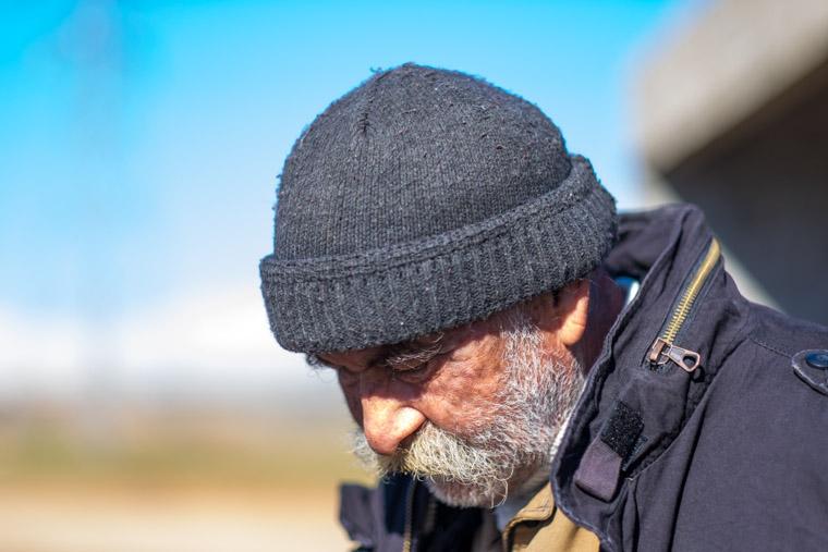 An elderly Yazidi IDP in Kurdistan region
