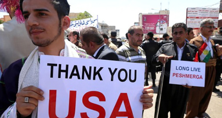 Recently Iraq's Kurdish were thanking the USA but for some Iraqi politicians, not enough is being done.