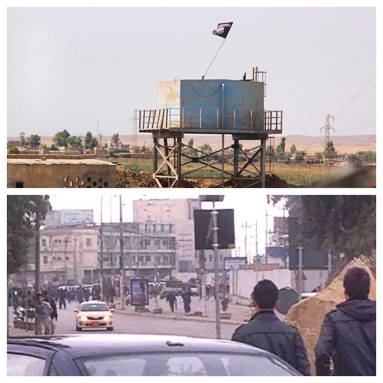 Photos of Kirkuk during ISIS's attack on the city.