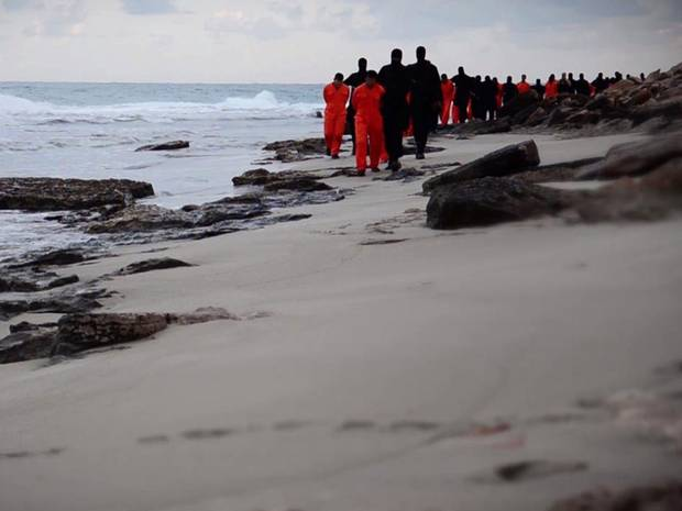 ISIS militants leading Egyptian Copts