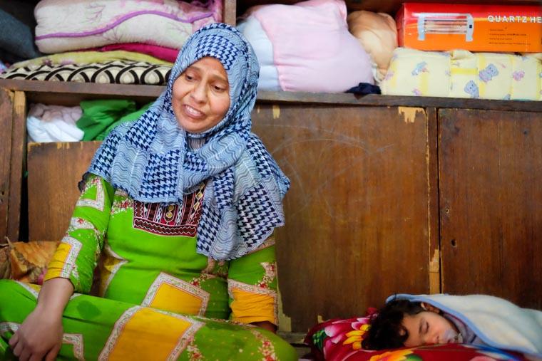 Wafaa, a displaced woman in Baghdad, tells her story.