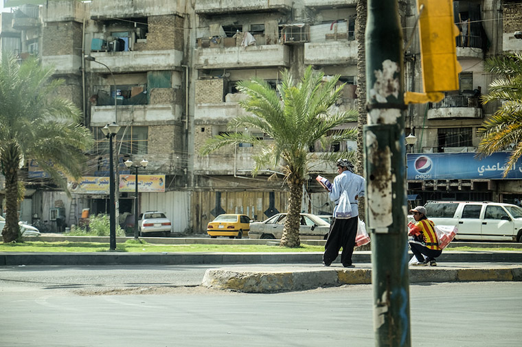 The impact of years of war are still seen on many Baghdad streets.