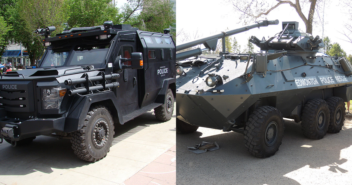 Image: EPS' existing BATT and Grizzly armoured vehicles