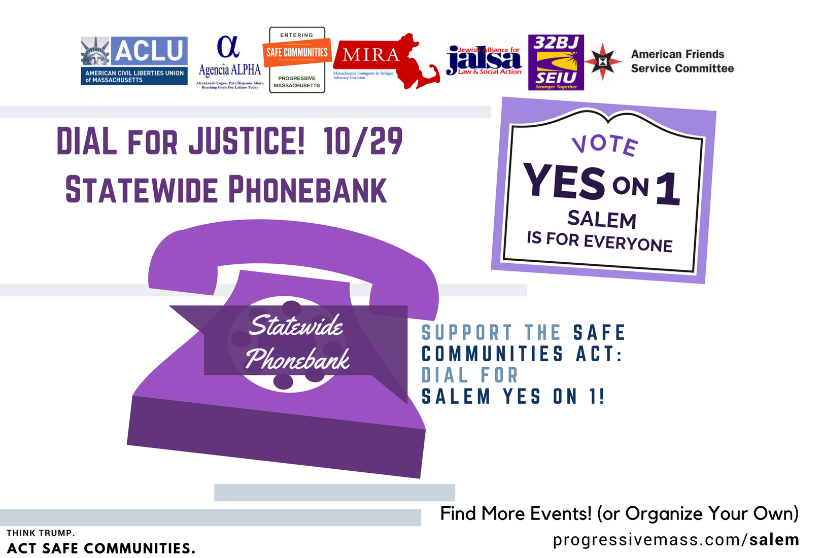 10/29: STATEWIDE Virtual Phone Bank for Salem Yes on 1