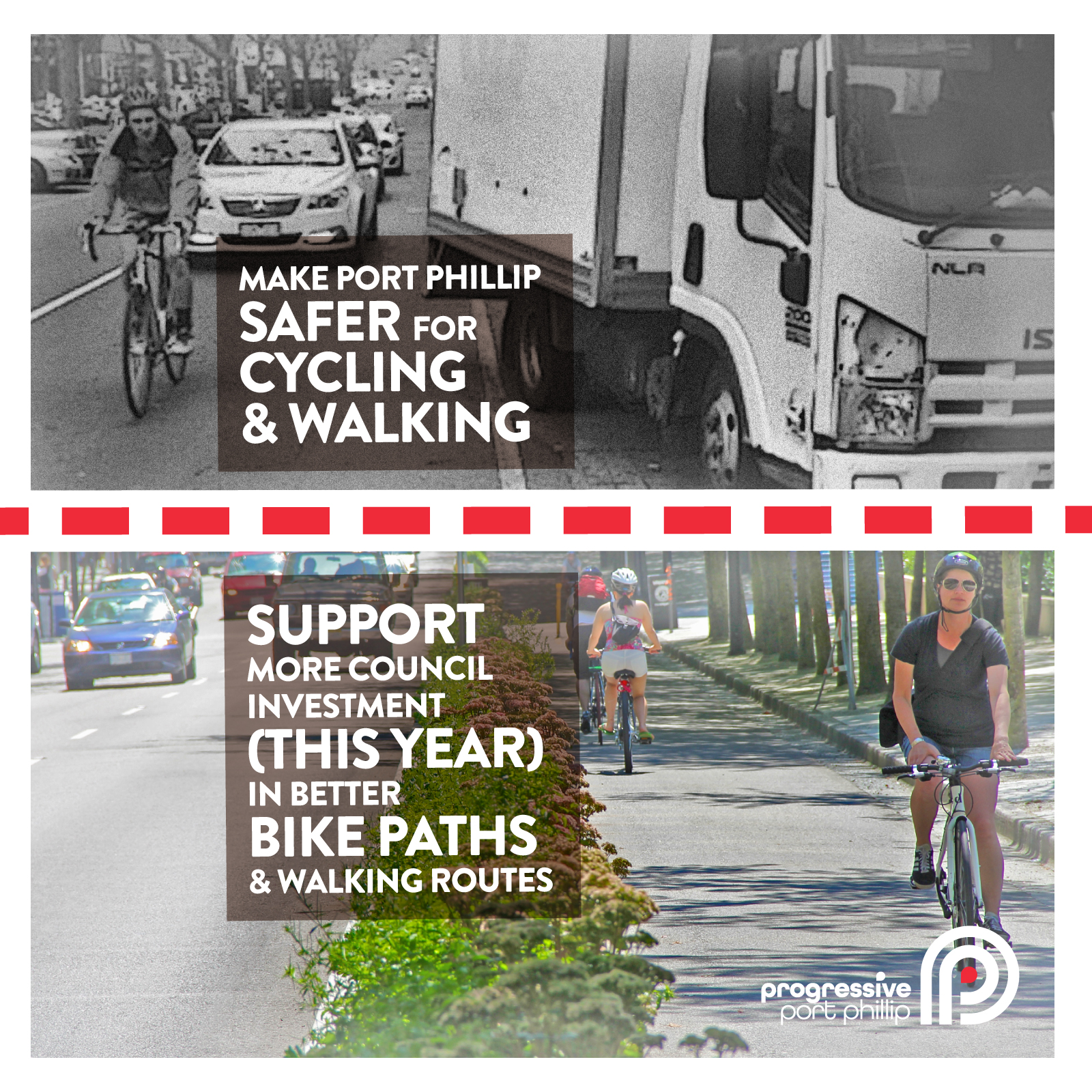 Active transport connections: for people and for bikes