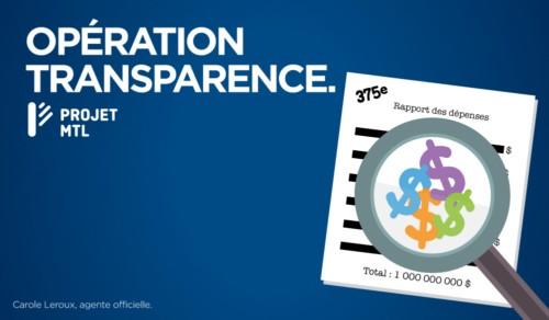 Opération transparence