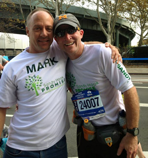 Mark and Tim at NYC Marathon 2015