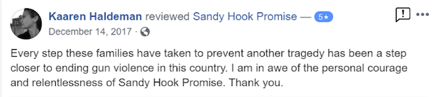 Kaaren Haldeman reviewed Sandy Hook Promise — 5 star