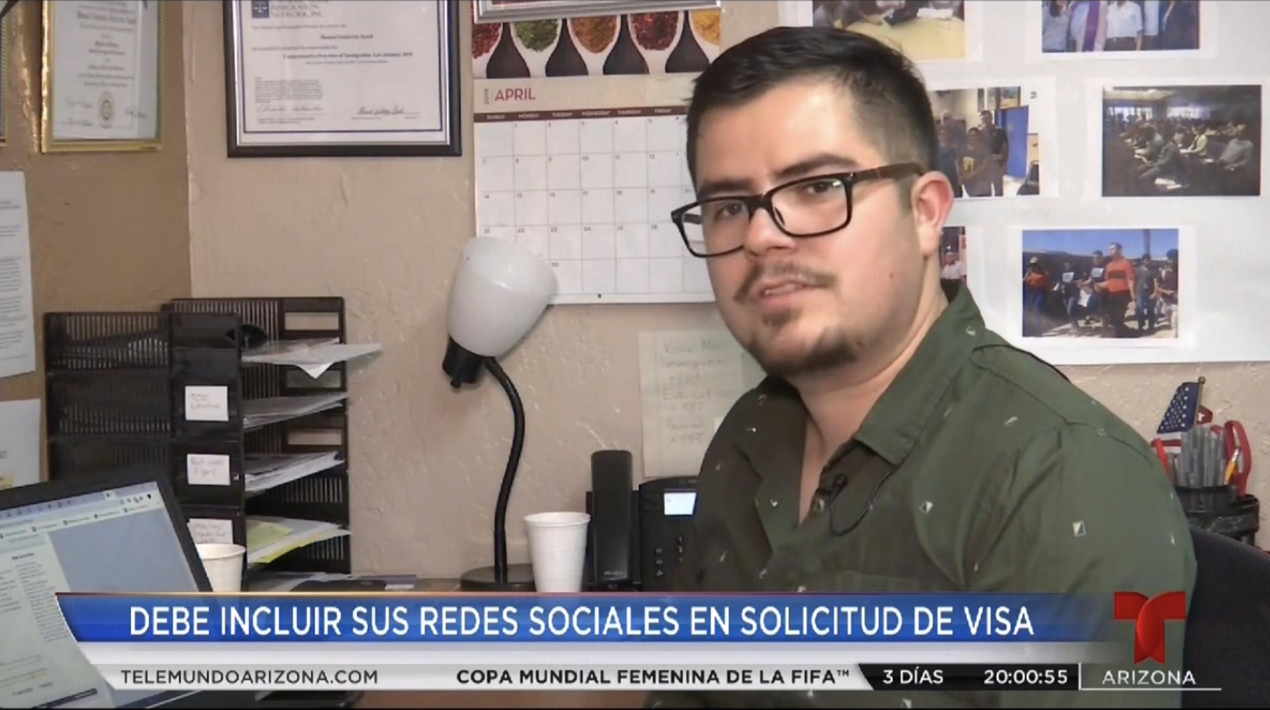 Manuel interviewed by Telemundo