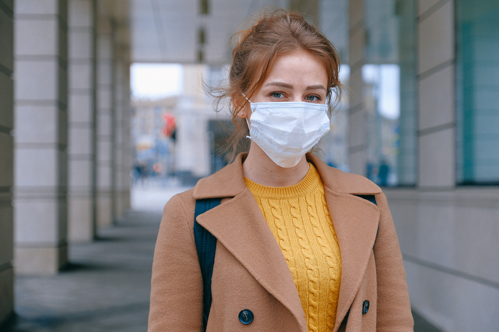 Image of a woman wearing a face mask