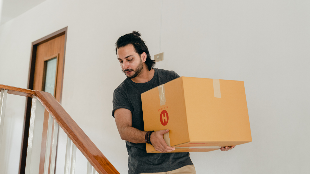 Man moving house