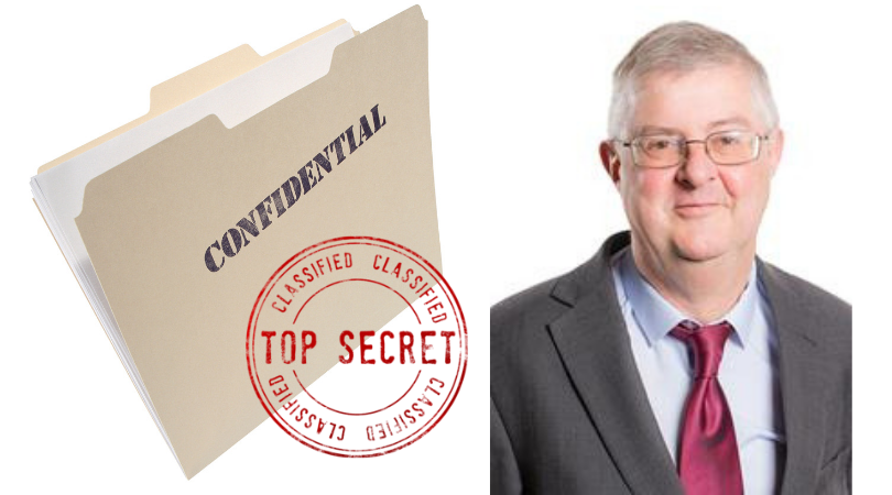 Drakeford classified top secret
