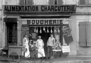 Boucherie toulousaine en 1920