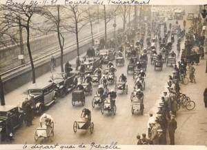 Course de triporteurs à Paris, 1931