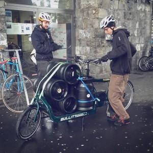 Les nouveaux brasseurs adoptent aussi le cargo. Ici la brasserie du Lance Pierre (Lausanne)