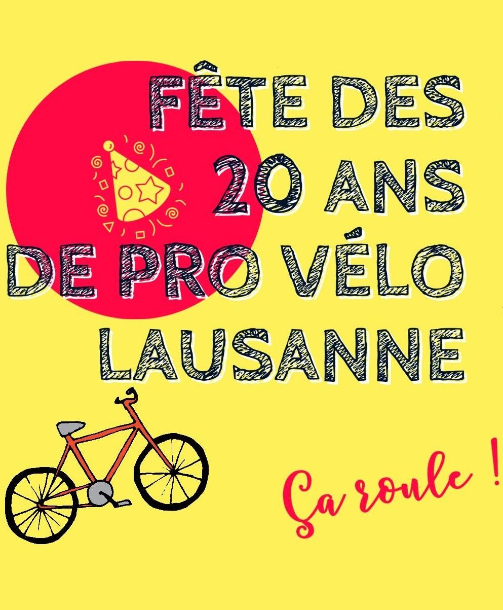 Fête des 20 ans de PRO VELO Région Lausanne