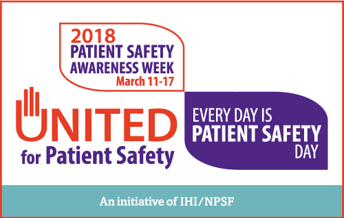 2018 Patient Safety Awareness Week Logo