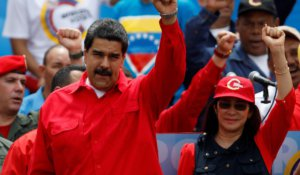 "President Nicolás Maduro and ""First Combatant"" Cilia Flores on re-election campaign tour across Venezuela."