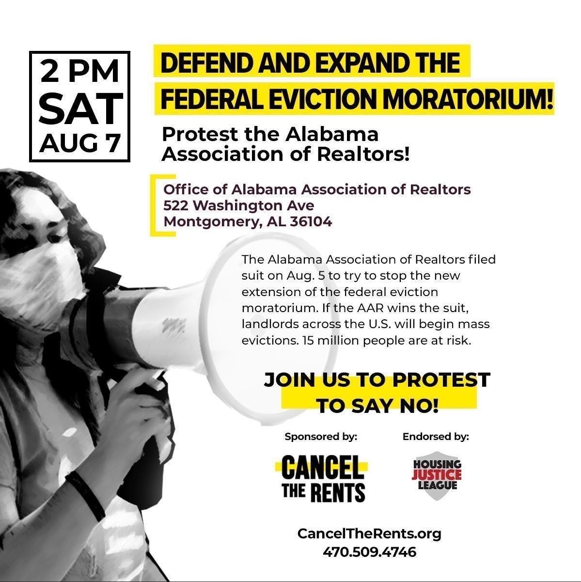 Aug 7 2021 - Protest against Alabama Association of Realtors
