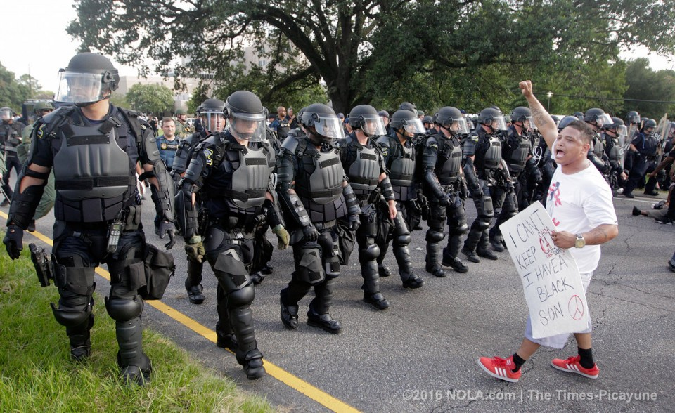 Socialist candidate arrested, Baton Rouge police attack protest