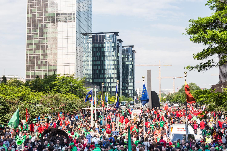 Peter Mertens, président du PTB : « Le gouvernement a déjà repoussé différents dossiers au-delà des élections communales. Il ne faut pas sous-estimer ce que la résistance sociale a déjà permis. » (Photo Solidaire, Dieter Boone)
