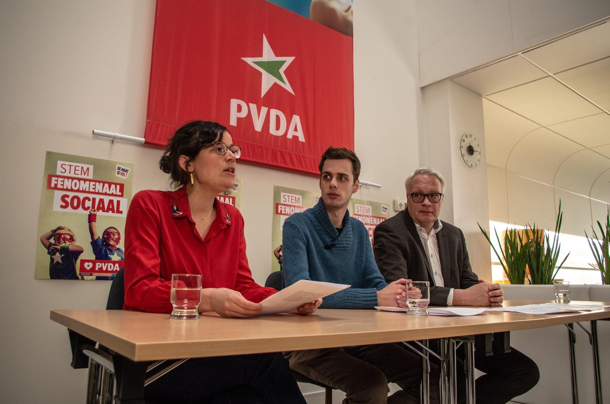 Lise Vandecasteele, Jos D'Haese en Peter Mertens.