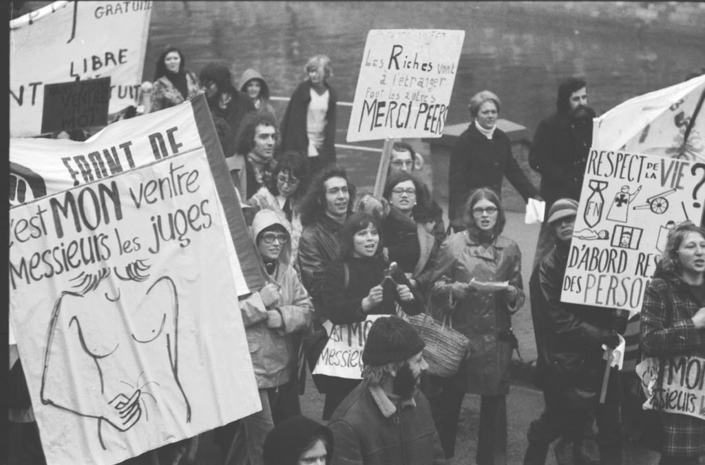 Manifestation pour le droit à l'avortement en 1974. (Photo DR)