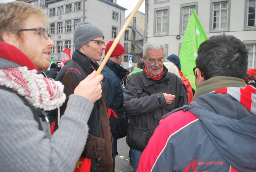 Manifestation en décembre 2014 à Namur. (Photo Solidaire, Pascal Dandrimont)