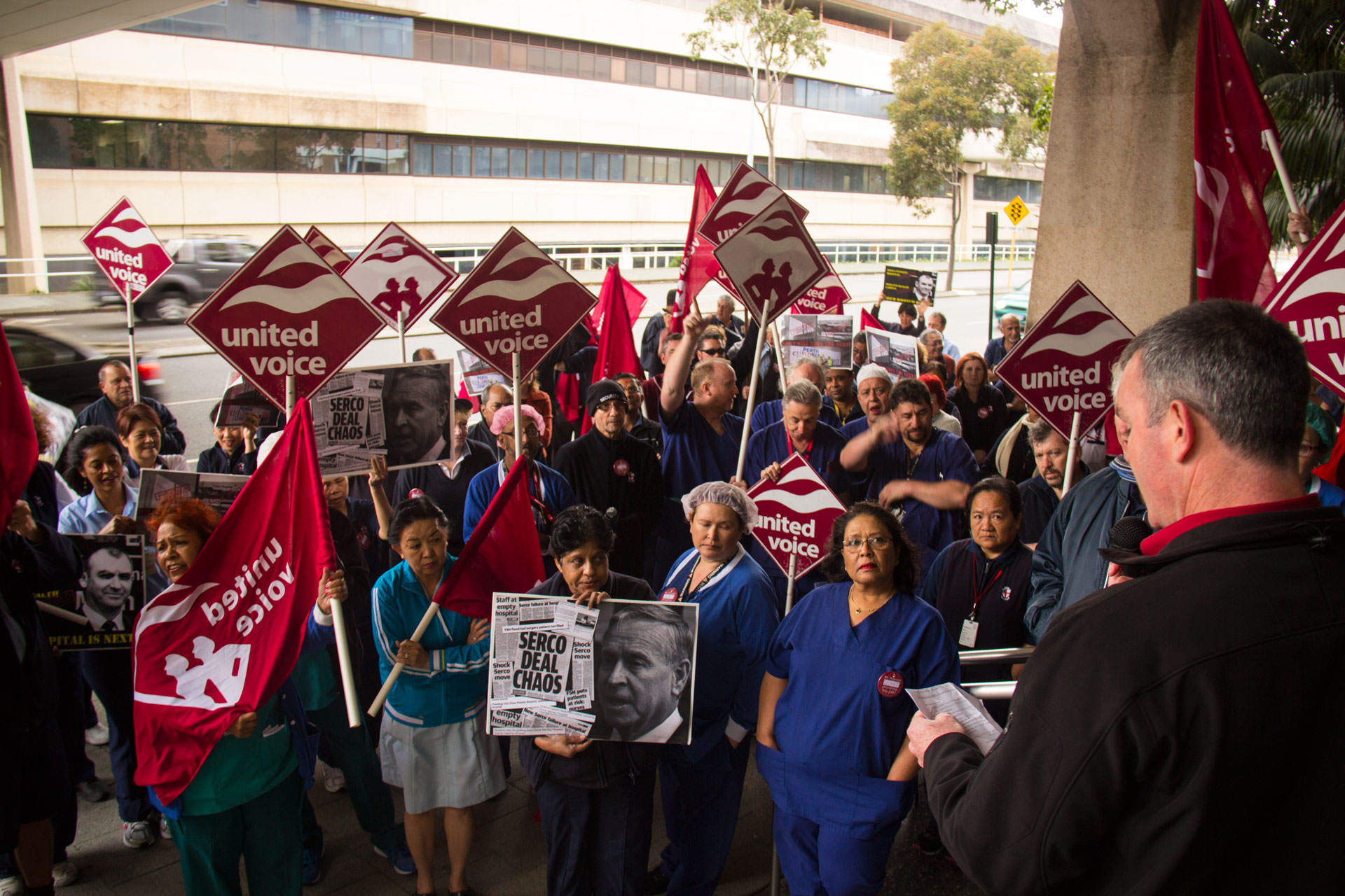 Royal Perth Hospital support workers take action