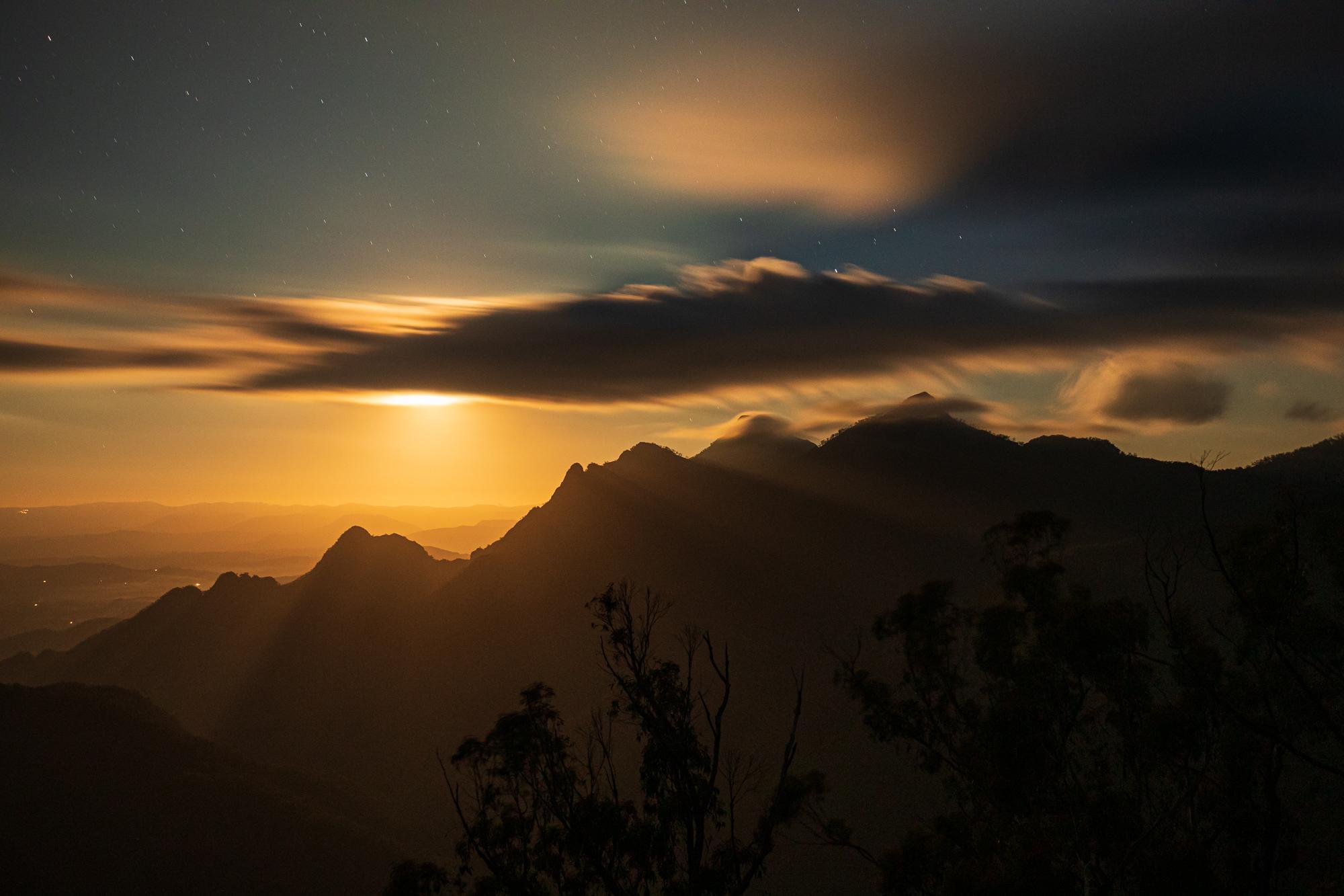 Mt Barney Moonrise