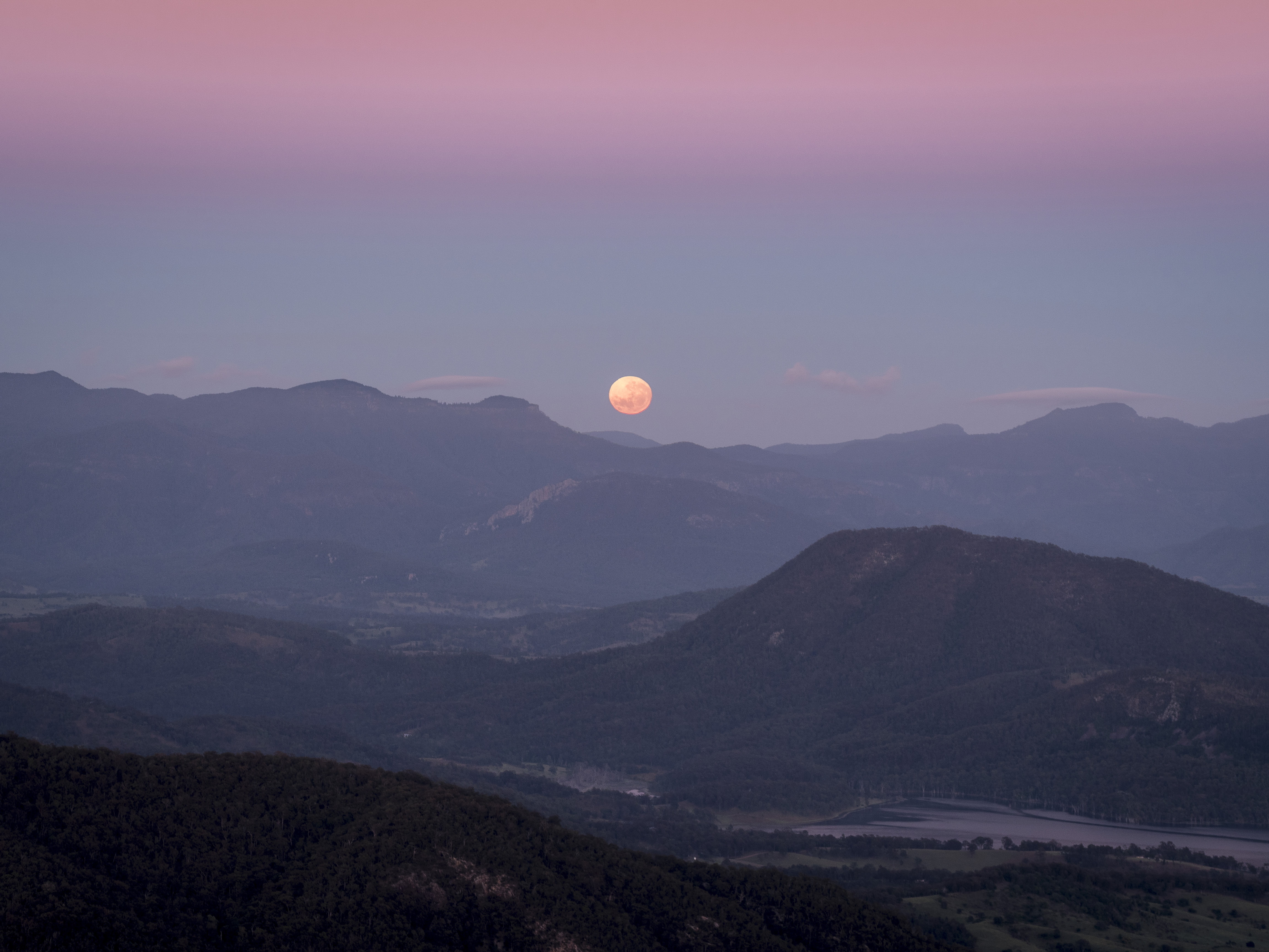 The Moon from Mount Maroon