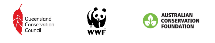 Logo for QCC, WWF and ACF
