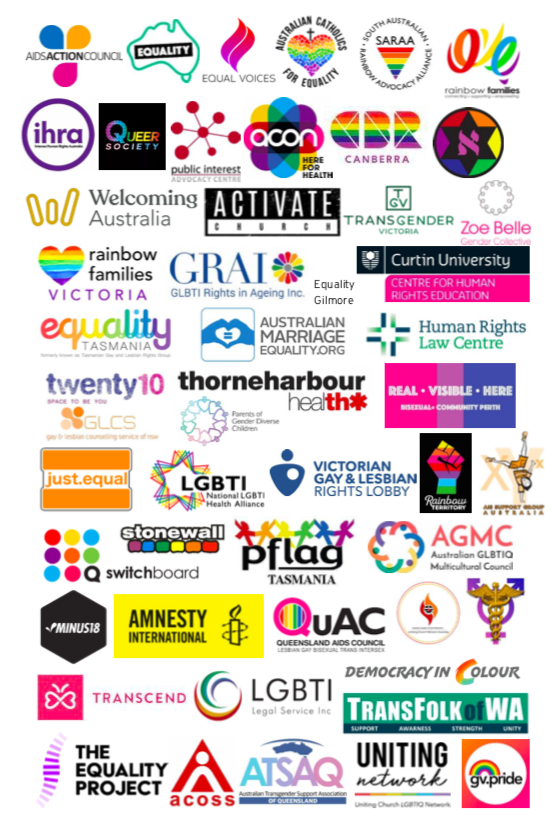 50+ LGBTIQ organisations and Allies support affirming Religious Discrimination Bill
