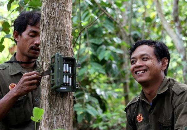 Sumatran Rainforest Rangers and camera trap