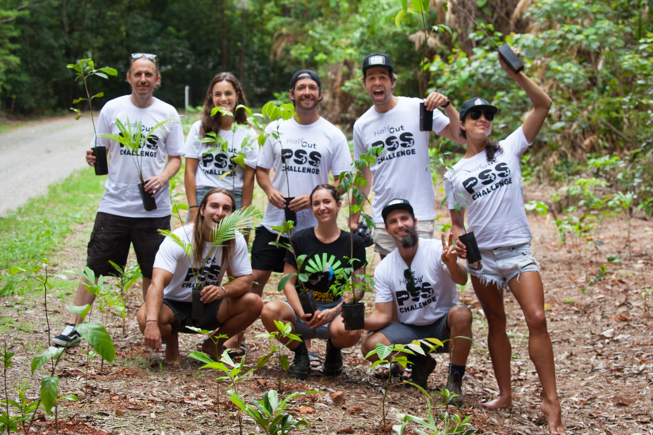 HalfCut PSS Challenge participants in the Daintree