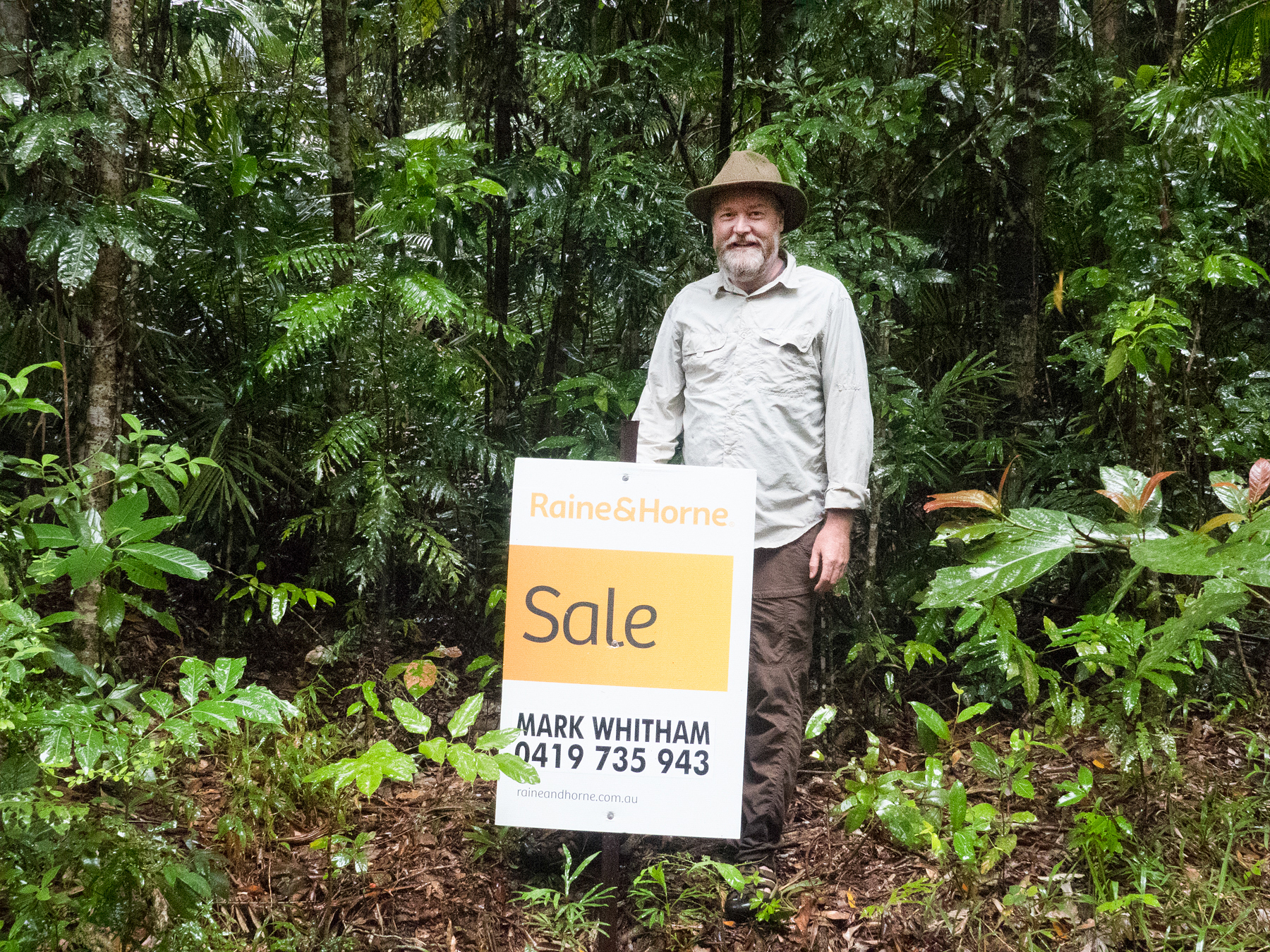 Kelvin Davies at Lot 390 Maple Road in the Daintree Rainforest