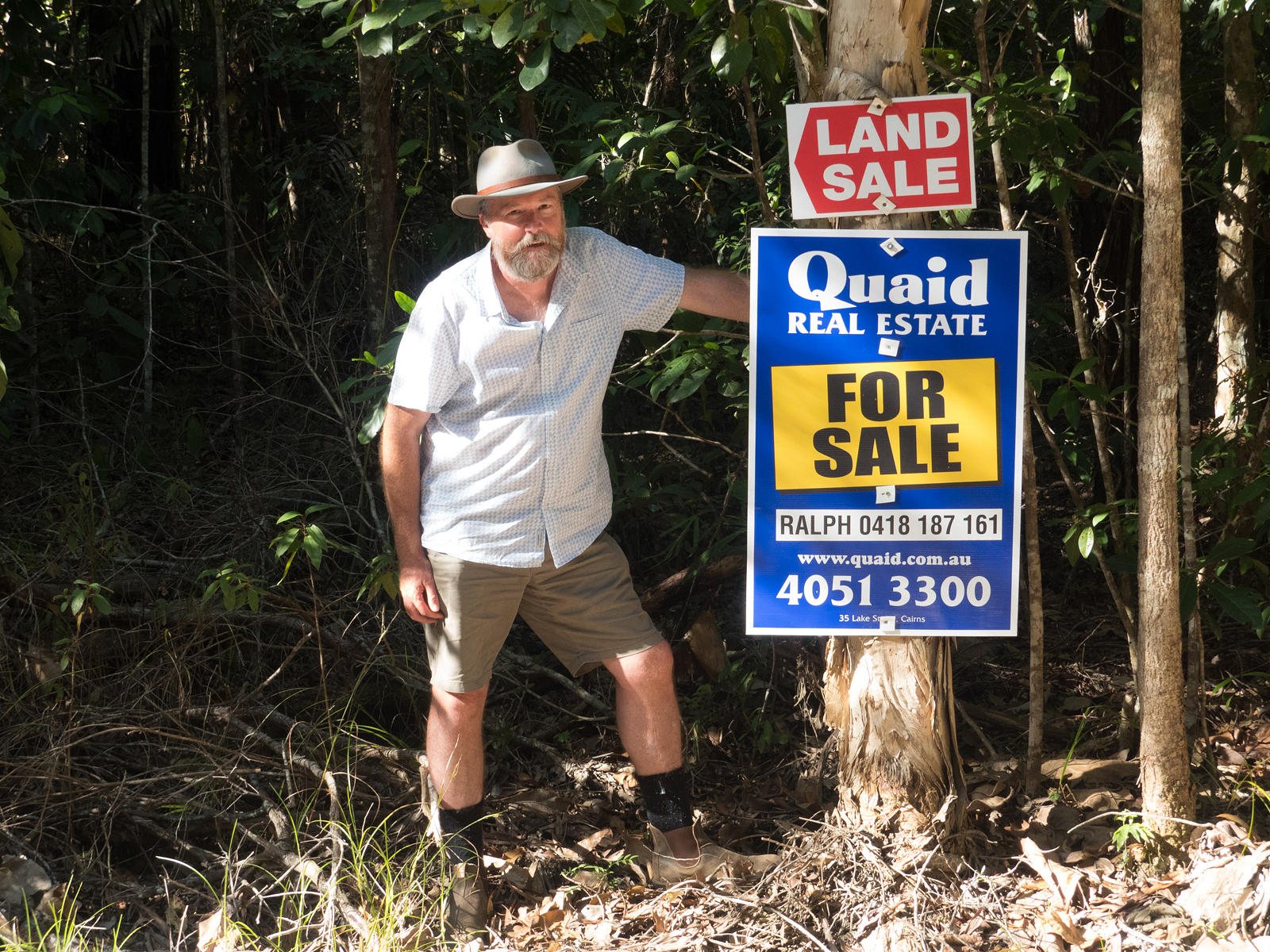 Kelvin Davies want's to see more buyback of land in the Daintree for conservation.