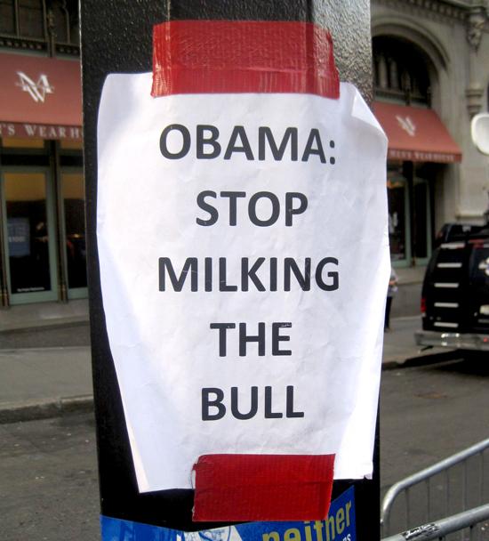 Obama: Stop Milking The Bull