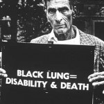 Miner campaigning for black lung safety and compensation