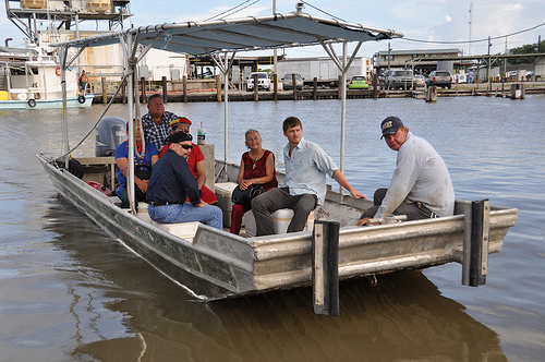 Houma and Ecuadorean leaders Tour the Gulf Oil Spill