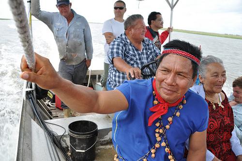 Emergildo Criollo on the way to Grand Bayou  Village