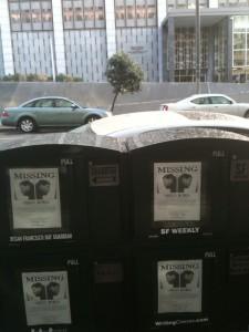 Borja missing posters in San Francisco