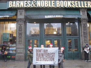RAN Activists Outside Barnes & Noble's Union Square Flagship Store.