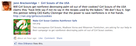 Girl Scouts USA Facebook Post
