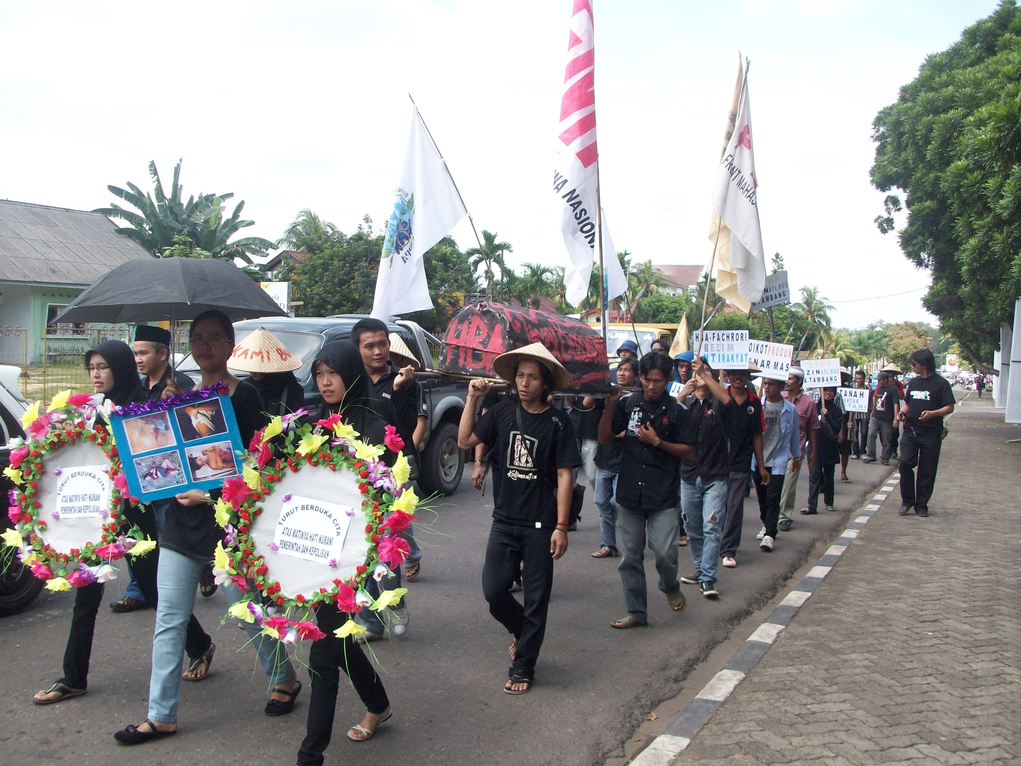Funeral Procession Protesting Police Brutality in Indonesia