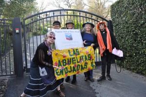 Raging Grannies at Chevron CEO John Watson's house