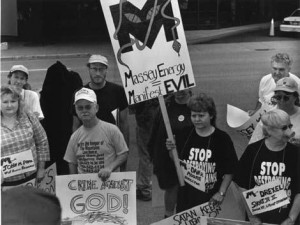 West Virginia communities protest Massey Energy (Manifests Evil)