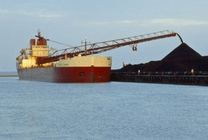 Ship loading coal