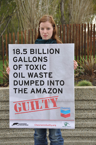 18.5 billion gallons of toxic oil waste dumped in the Amazon - Chevron is guilty