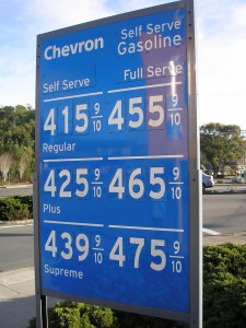 Chevron gas prices. Photo by Flickr user romleys.